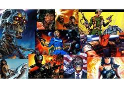 20世纪80年代,机械战警,兰博,终结者,空间,士兵,大学,电影,星球大