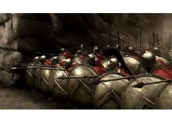 300,斯巴达,电影,战斗,战士26874