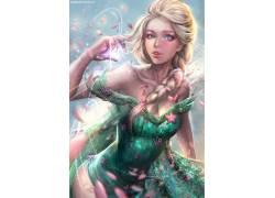 埃尔莎公主,冷冻(电影),冷冻发烧,迪士尼,金发,辫子187657