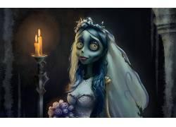僵尸新娘,电影,幽灵般的,哥特232541