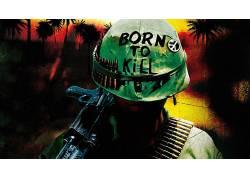 全金属外壳,艺术品,枪,越南战争,电影,和平标志,头盔359660