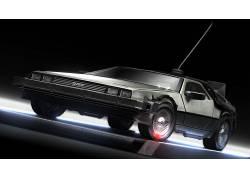 回到未来,德罗宁,超级跑车,数字艺术,电影,时间旅行,科幻小说1050