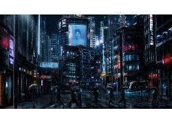 Blade Rrunner,黑暗的赛博朋克,网络,电影,庞克625297
