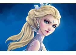 冷冻(电影),埃尔莎公主,妇女,金发,艺术品,粉丝艺术260107