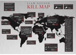 利亚姆・尼森,地图,电影,世界地图,数字,信息图表,星球大战,纽约