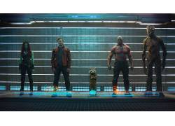Gamora,火箭浣熊,格鲁特,Drax驱逐舰,星主,佐伊萨尔达纳,克里斯普