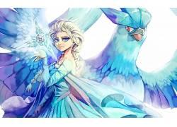 埃尔莎公主,急冻鸟,冷冻(电影),交叉,神奇宝贝35592