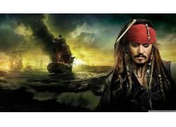 加勒比海盗,杰克・斯派洛,约翰尼・德普,电影,胡须,海盗172768