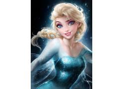 埃尔莎公主,迪士尼,蓝色连衣裙,冷冻(电影)181364