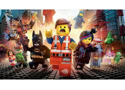 LEGO,乐高电影,蝙蝠侠,绿色灯笼,神奇女侠,Emmet Brickowoski,金