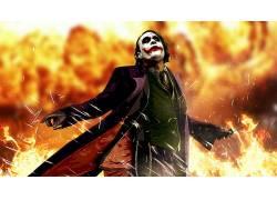 动漫,希斯莱杰,电影,滑稽角色,蝙蝠侠,黑暗骑士37997
