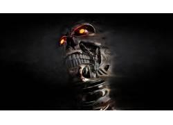 T-800,终结者,头骨,内骨骼,数字艺术,半机械人,电影,机7672