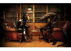 外星人(电影),捕食者(电影),外星人与掠夺者,棋,Xenomorph,给