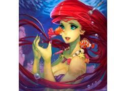 动画片,华特迪士尼,小美人鱼,波妞(电影),海底总动员532016