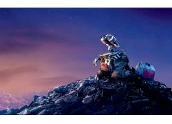 WALL-E,皮克斯动画工作室,迪士尼,电影,机器人,动画电影,明星,垃