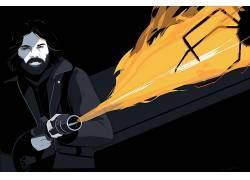 事情,火焰喷射器,库尔特罗素,克雷格德雷克,粉丝艺术,画画,电影33