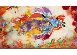 Snyp,艺术品,幻想艺术,数字艺术,华美,动物,狼,动漫67023