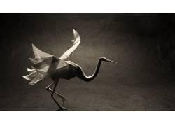 起重机,折纸,动物,纸,性质498195