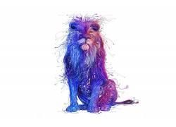 狮子,幻想艺术,Charis Tsevis,艺术品,白色背景,动物502999
