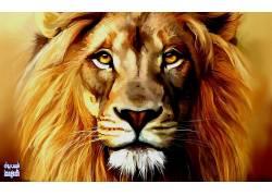 狮子,艺术品,动物432462