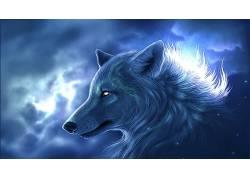 狼,幻想艺术,动物,艺术品371330
