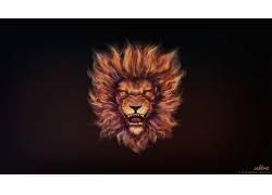 艺术品,狮子,动物681074