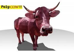 牛,动物,多边形艺术,红,抽象498712