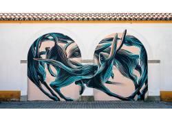 动物,艺术品,涂鸦,兔,壁,街,街头艺术614954
