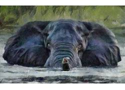 动物,艺术品,绘画457442