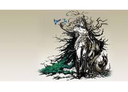 幻想艺术,鸟类,幻想女孩,数字艺术,动物12297图片
