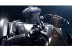 机器人,景深,手,机甲,给予,数字艺术,花卉,科幻小说26588