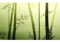竹,绿色,向量,简单的背景,艺术品,树木,植物,壁纸,数字艺术3135图片