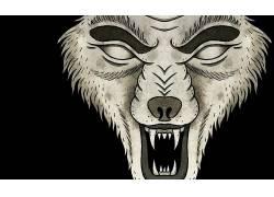 当天匆忙,金属,狼,艺术品,狼王的攻击,动物72656