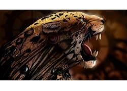 抽象,动物,豹,数字艺术,艺术品13637