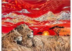 抽象,狮子,非洲,艺术品,动物180676