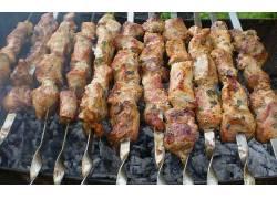 餐饮,特写,肉,烧烤,烤架,动物286642
