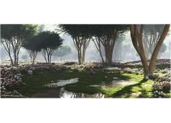 花卉,树木,3D,壁纸,给予,CGI,数字艺术400381