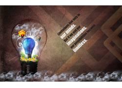 灯泡,数字艺术,活版印刷,花卉,热气球,艺术品25669图片