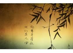 艺术品,中文,活版印刷,植物,树叶16343