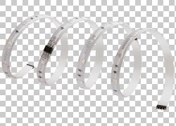 发光二极管欧司朗荧光灯照明,LED灯条PNG剪贴画戒指,颜色,白金,材