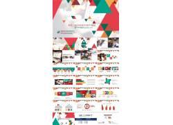 创意彩色三角形时尚ppt模板图片