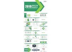 绿色工作分析报告ppt模板图片
