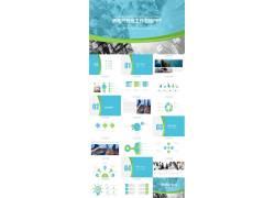欧美城市背景的房地产行业工作汇报ppt模板图片