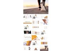 奔跑吧主题新年工作计划ppt模板图片