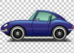 跑车汽车设计豪华车,卡通豪华车PNG剪贴画卡通人物,紧凑型车,蓝色
