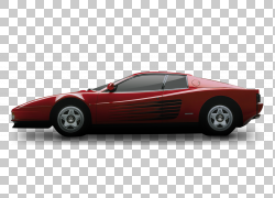 跑车法拉利Testarossa法拉利348,经典车PNG剪贴画紧凑型汽车,汽车