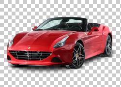 跑车法拉利加州豪华车,法拉利加州红色汽车PNG剪贴画紧凑型汽车,