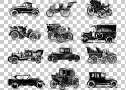 跑车老爷车经典车,经典车,十二个什锦经典车插图PNG剪贴画紧凑型