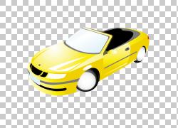 跑车车展车门,黄色跑车PNG剪贴画紧凑型轿车,轿车,汽车事故,敞篷