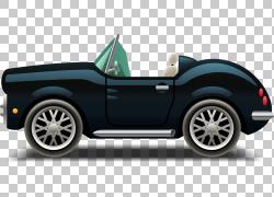 汽车豪华车恩佐法拉利汽车设计轮胎,卡通豪华车PNG剪贴画卡通人物